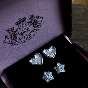 💗JUICY STUDS!💗 TWO PAIR EUC WITH BOX.